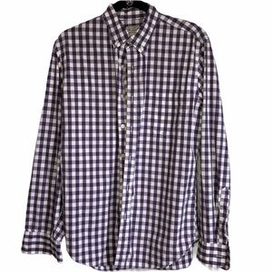 Tailored by J Crew plaid button down shirt